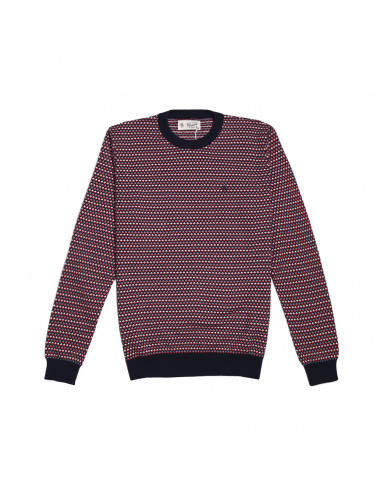 Pengüin Color Stripe Crew Sweater