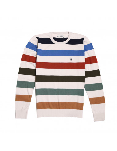 Pengüin Stripe Cotton Sweater
