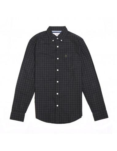 Penguin Camisa LS Gingham Nep Woven...