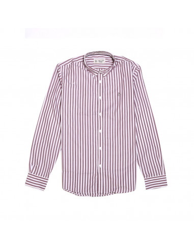 Penguin Camisa LS Wide Stripe B/D